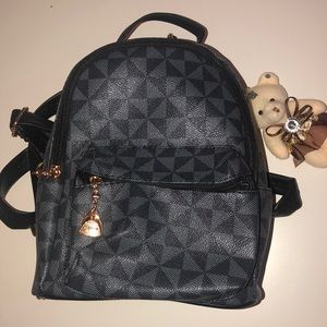 Mini Faux Leather Backpack
